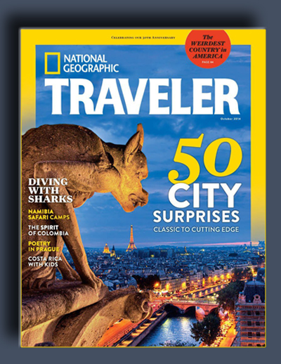 مجله ی National Geographic Traveler USA – اکتبر 2014