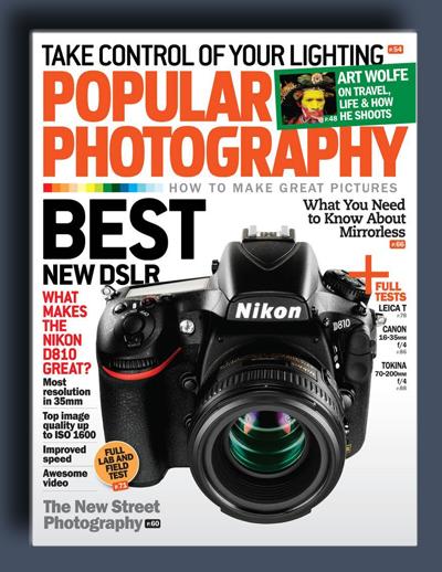 مجله ی Popular Photography – اکتبر 2014