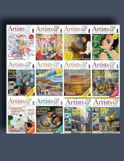 مجله ی Artists & Illustrators (مجموعه ی کامل شماره های سال 2014)