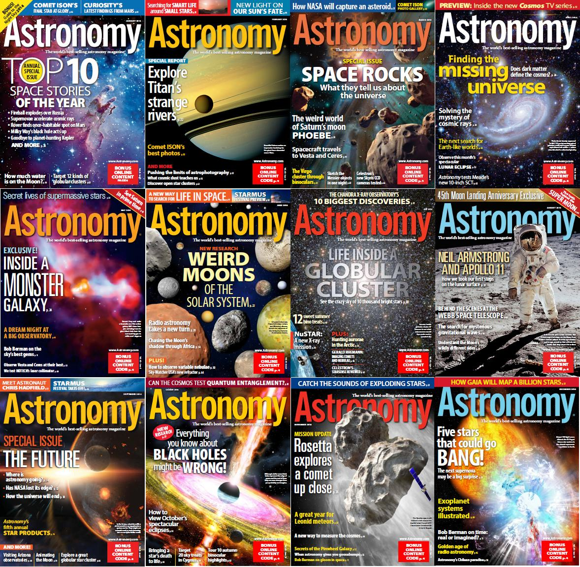 Astronomy Magazine - Full Year 2014 Issues Collection