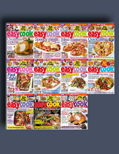 مجله ی BBC Easy Cook (مجموعه ی کامل شماره های سال 2014)