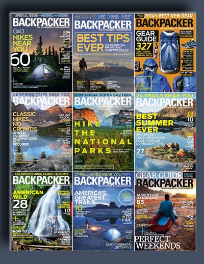 مجله ی Backpacker (مجموعه ی کامل شماره های سال 2014)