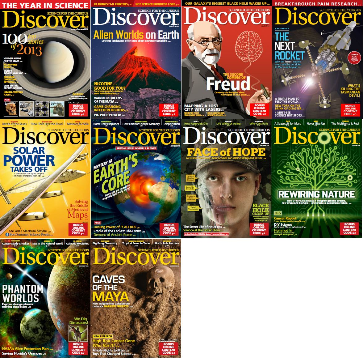 Discover Magazine - Full Year 2014 Issues Collection