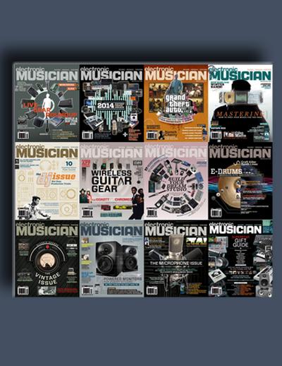 مجله ی Electronic Musician (مجموعه ی کامل شماره های سال 2014)