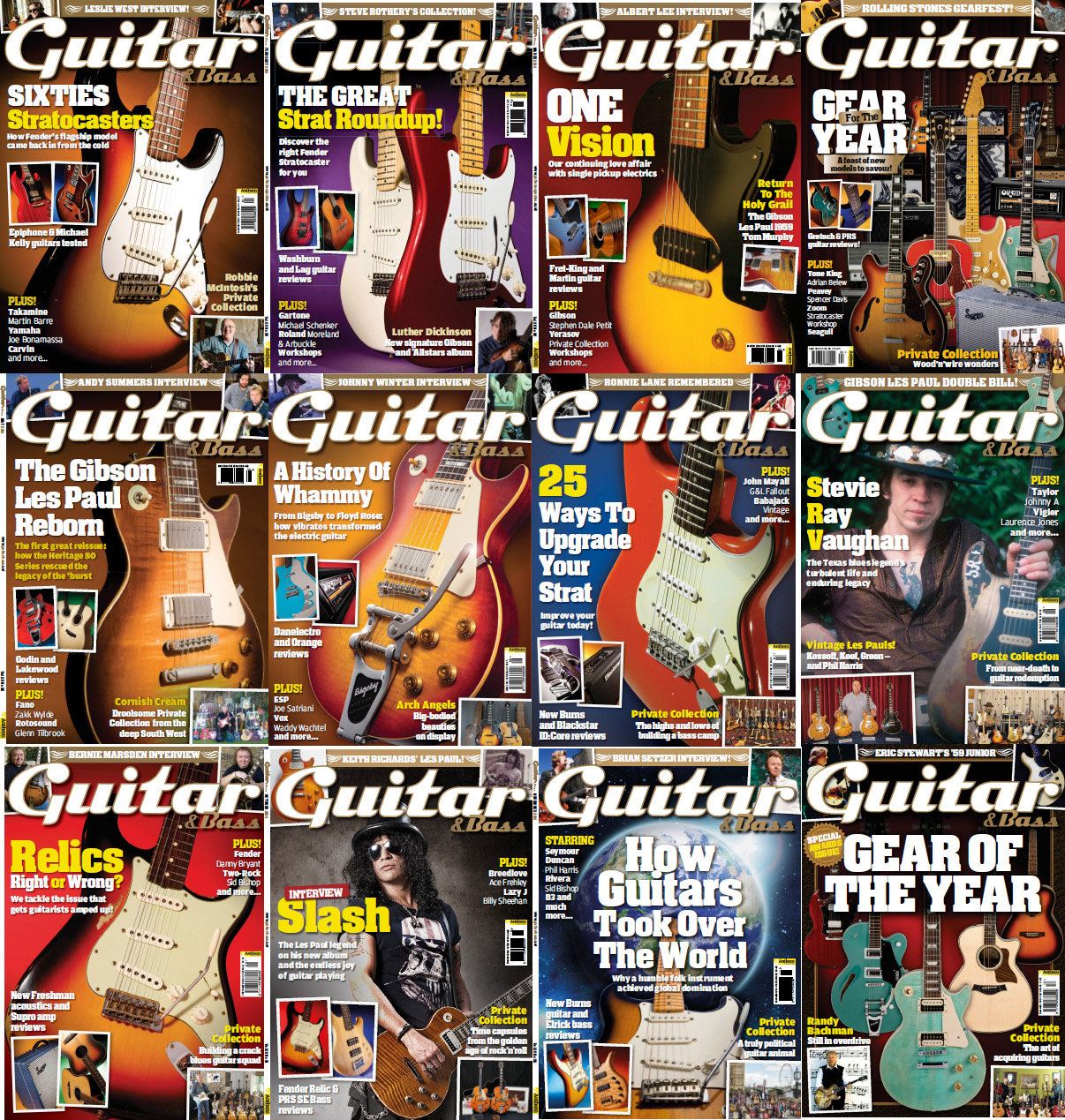 Guitar & Bass Magazine - Full Year 2014 Issues Collection