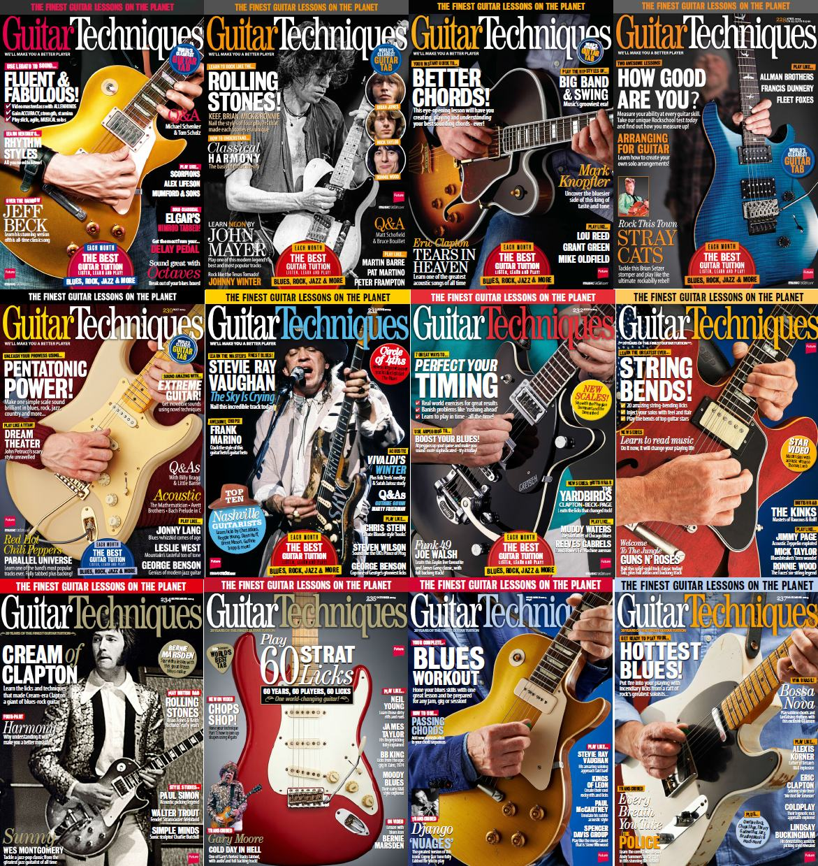 Guitar Techniques Magazine - Full Year 2014 Issues Collection