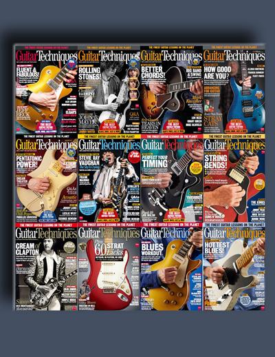 مجله ی Guitar Techniques (مجموعه ی کامل شماره های سال 2014)