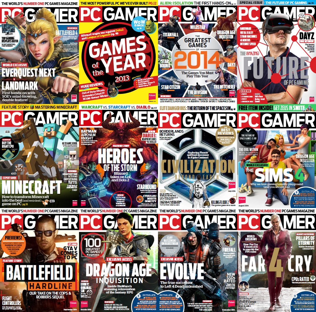 PC Gamer USA Magazine - Full Year 2014 Issues Collection