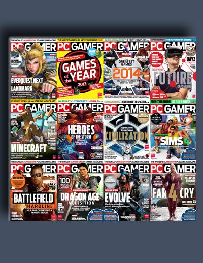 مجله ی PC Gamer USA (مجموعه ی کامل شماره های سال 2014)