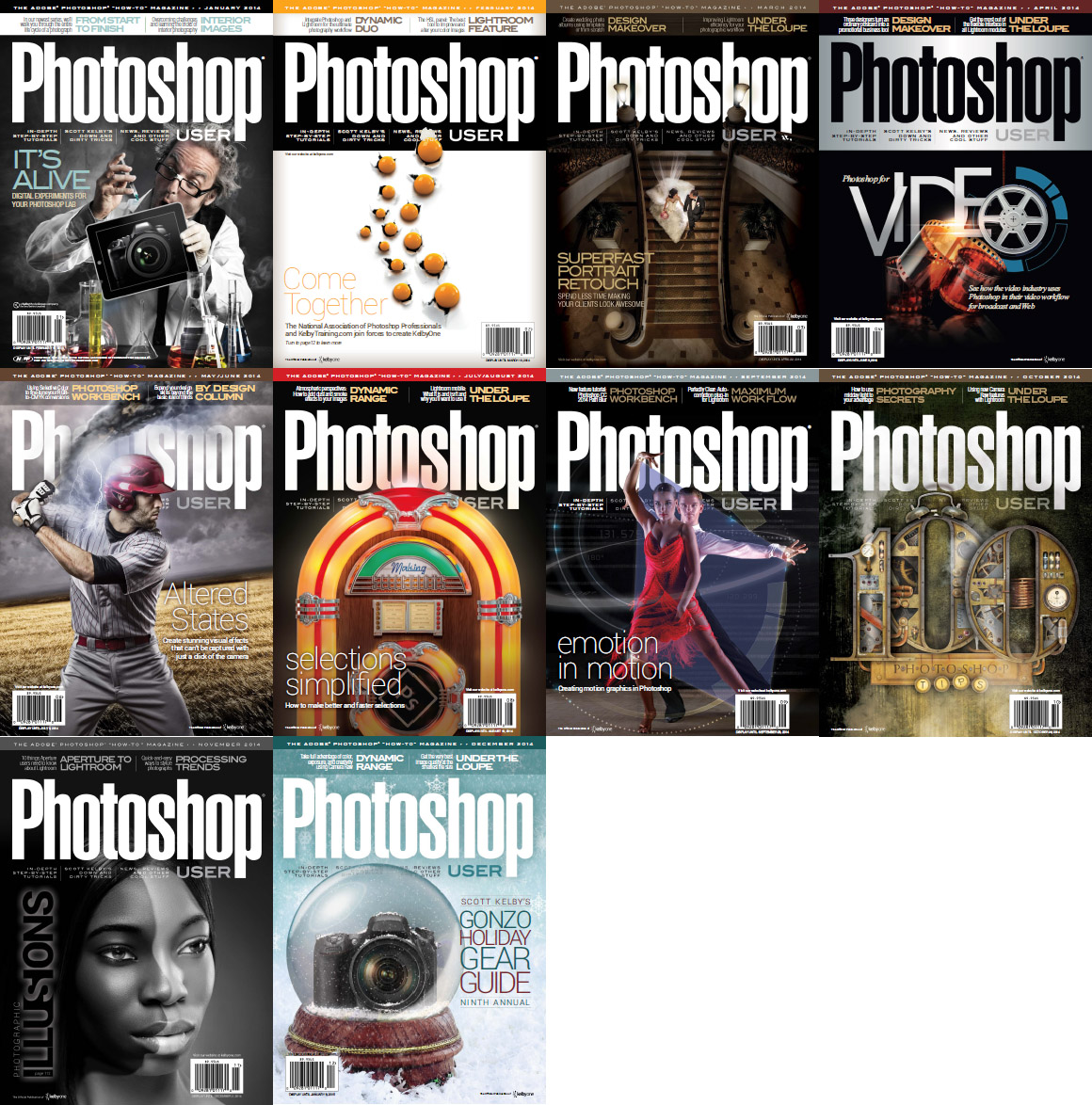 Photoshop User Magazine - Full Year 2014 Issues Collection