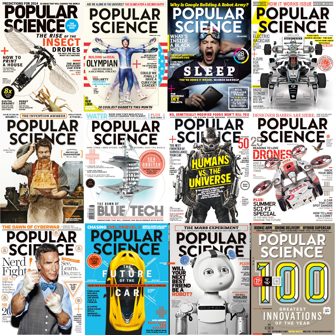 Popular Science USA Magazine - Full Year 2014 Issues Collection