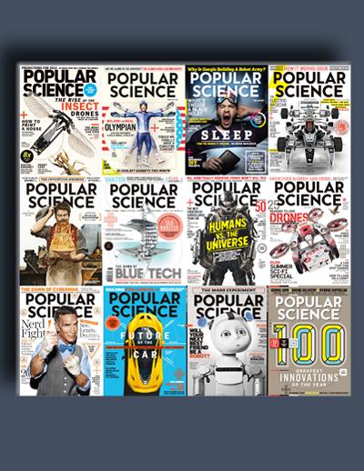 مجله ی Popular Science USA (مجموعه ی کامل شماره های سال 2014)