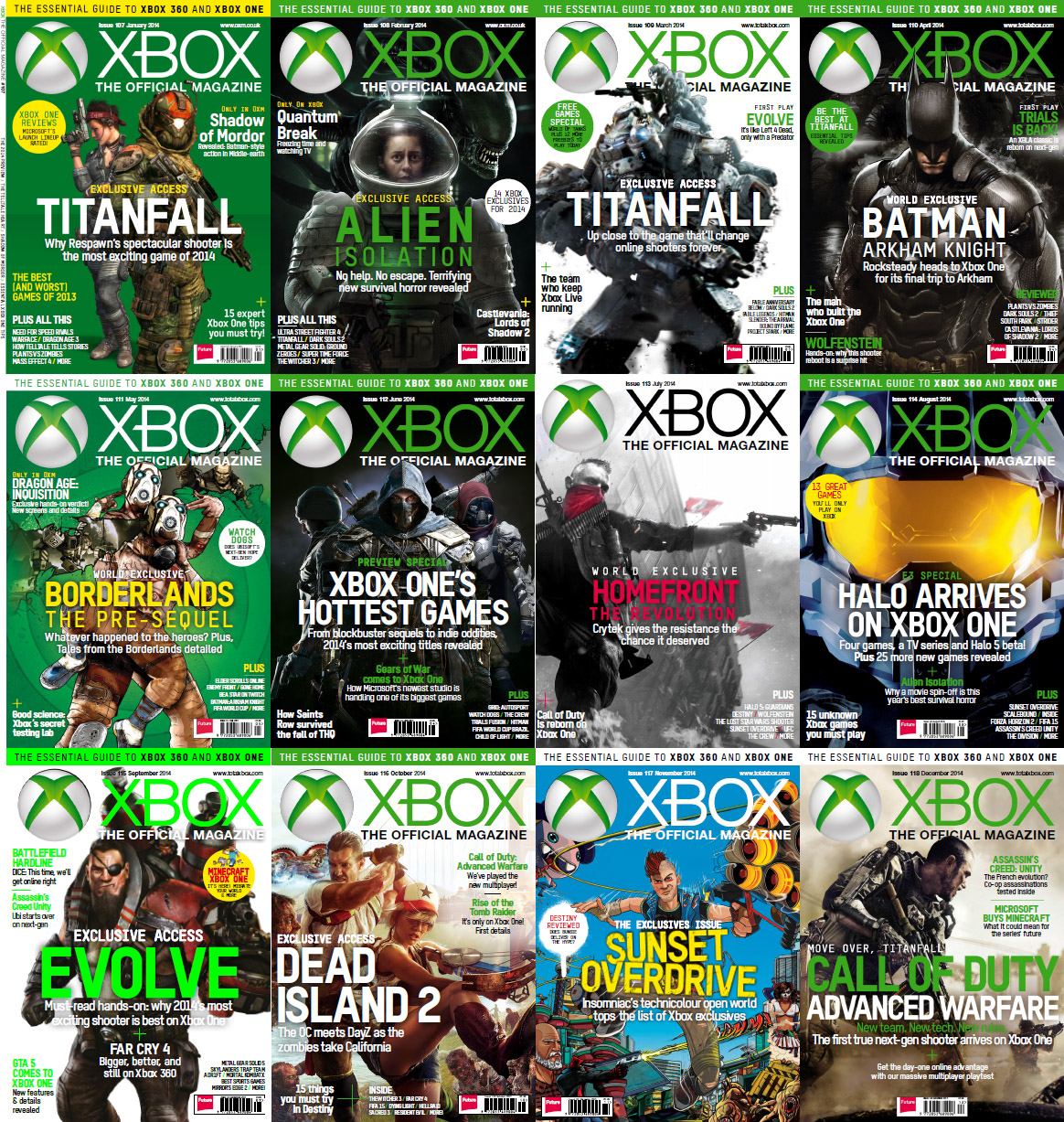 Xbox-The Official Magazine - 2014 Full Year Issues Collection