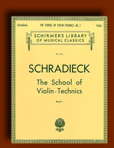 آموزش تکنیک های ویولن مدرسه Schradieck – کتاب اول