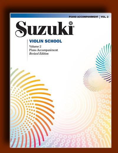 ویولن سوزوکی – قطعات پیانو همراه برای جلد دوم